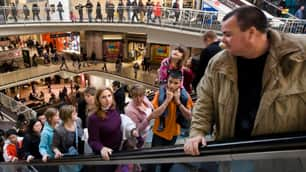 Thousands of people line all five levels of Toronto's Eaton Centre. When the harmonized sales tax takes effect in B.C., and Ontario in July 1, consumers will pay an extra seven per cent and eight per cent, respectively, for services from home renovations to haircuts.