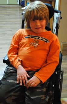 Tanner Bawn, 10, suffers from Duchenne's Muscular Dystrophy.