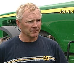 Farmer Ernie Mutch says economic conditions have not improved significantly since the federal loans were made to farmers.