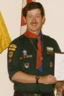 Richard Turley poses with his Scouting uniform on in an old picture taken in the 1980s.