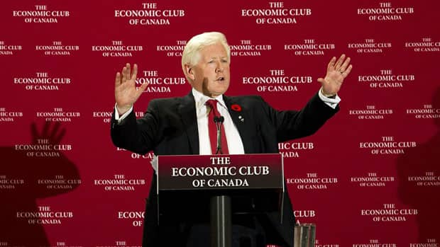 Interim Liberal Leader Bob Rae criticized the government's fiscal management Wednesday during a speech, and talked about his party's vision for economic prosperity.