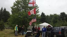 Anti-shale gas protesters moved their camp away from Harcourt and closer to the Elsipogtog First Nation.