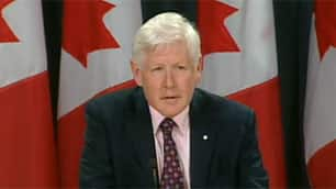 Liberal MP Bob Rae speaks during a news conference in Ottawa on Wednesday.