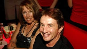 Martin Short and his wife, Nancy Dolman, attend a party at the grand opening of the Planet Hollywood Resort and Casino in Las Vegas in November 2007.