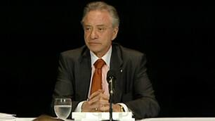 OLG chair Paul Godfrey tells a news conference Wednesday that the rightful owner of the ticket will be paid in full plus interest.