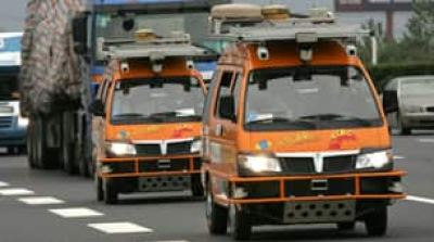 The vans are equipped with laser scanners and cameras to detect and help avoid obstacles.