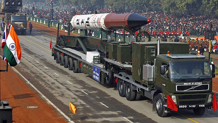 This Agni-IV nuclear-capable missile is a forerunner of the Agni-V, which India plans to test as early as this week.