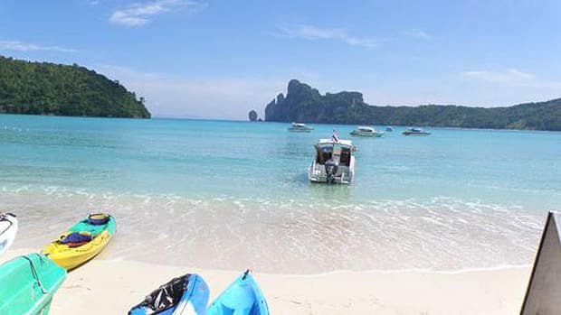 The sisters were staying at the Phi Phi Palms Residence on the Thai island, a popular destination for tourists.
