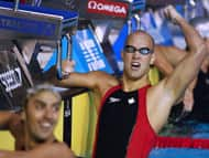 Swimmer Brent Hayden won Canada's first gold medal at the world aquatic championships in Melbourne Thursday.