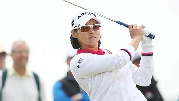 Taiwan's Yani Tseng plays a tee shot on the third during the final round of the Women's British Open at Carnoustie Golf on Sunday.