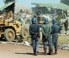 Zimbabwean police are under orders to destroy \