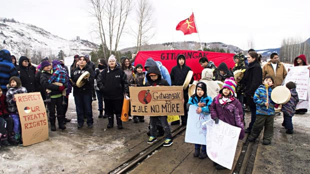 Idle No More demonstrators are conducting what they call an economic slowdown at the Ambassador Bridge in Windsor, Ont.