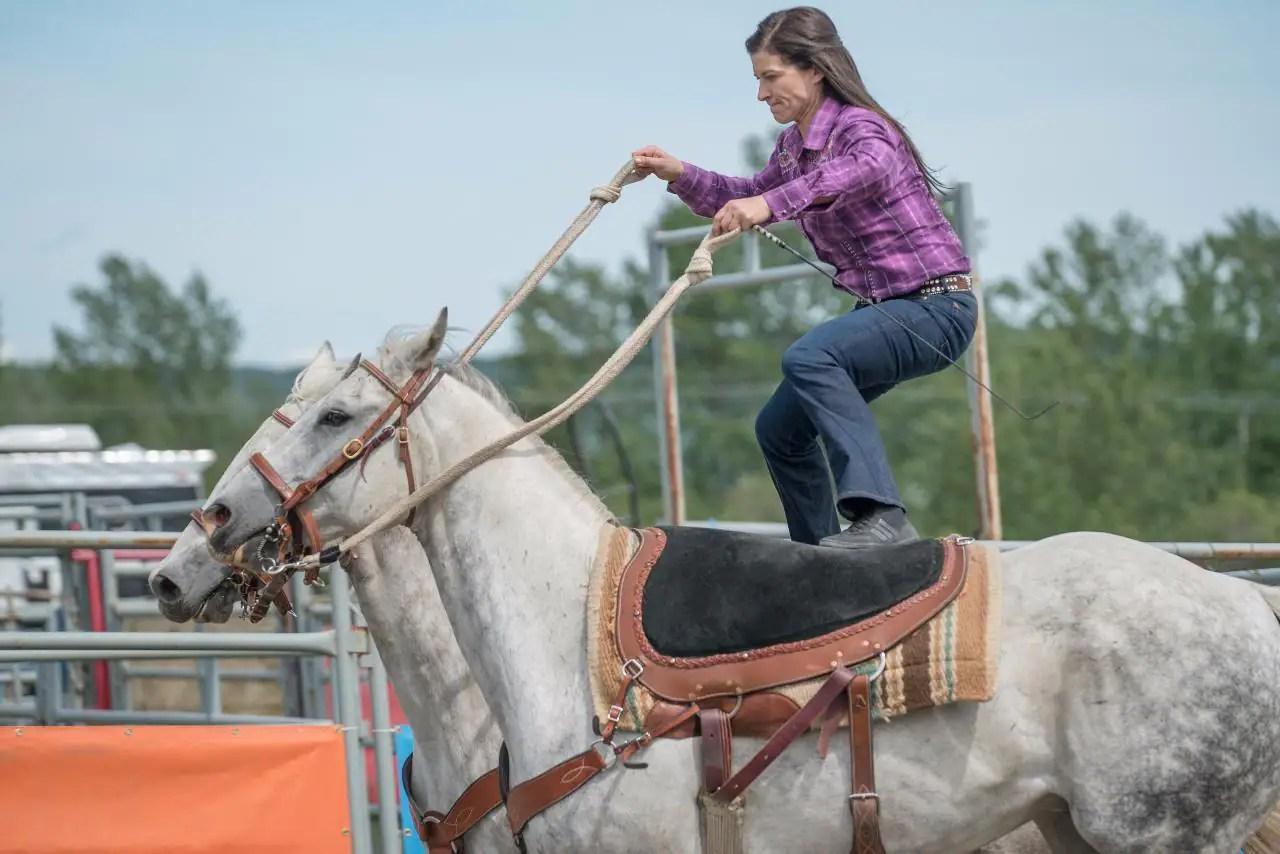 Alisha Newton Riding Trick