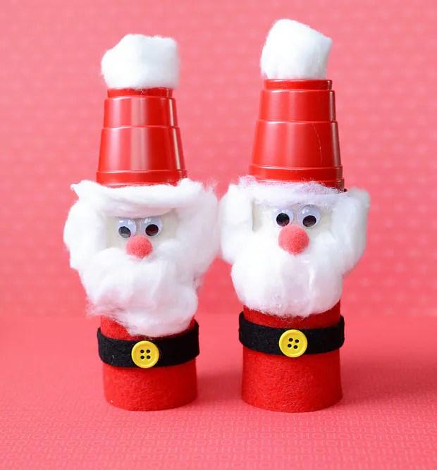 Toilet Paper Roll Santa Kids Christmas Craft | CBC Parents