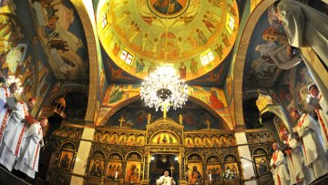 Address of Latin Patriarch Fouad Twal to the Orthodox community of Jerusalem at the Greek Orthodox Patriarchate