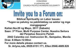 Forum on Biblical Spirituality on Labor Issues