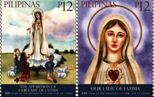 Philippines issues stamps to mark Fatima apparitions