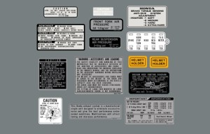 1982 cx500t CautionWarning Label Kit | CBdecals Best