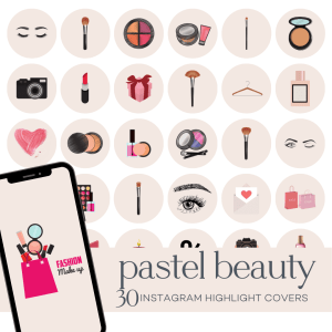 Pastel Beauty Instagram Highlight Covers
