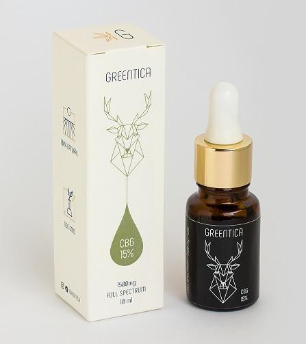 Full spectrum CBG olej/kvapky Greentica