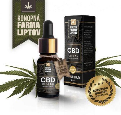 CBD olej/kvapky Konopná Farma Liptov, 5%