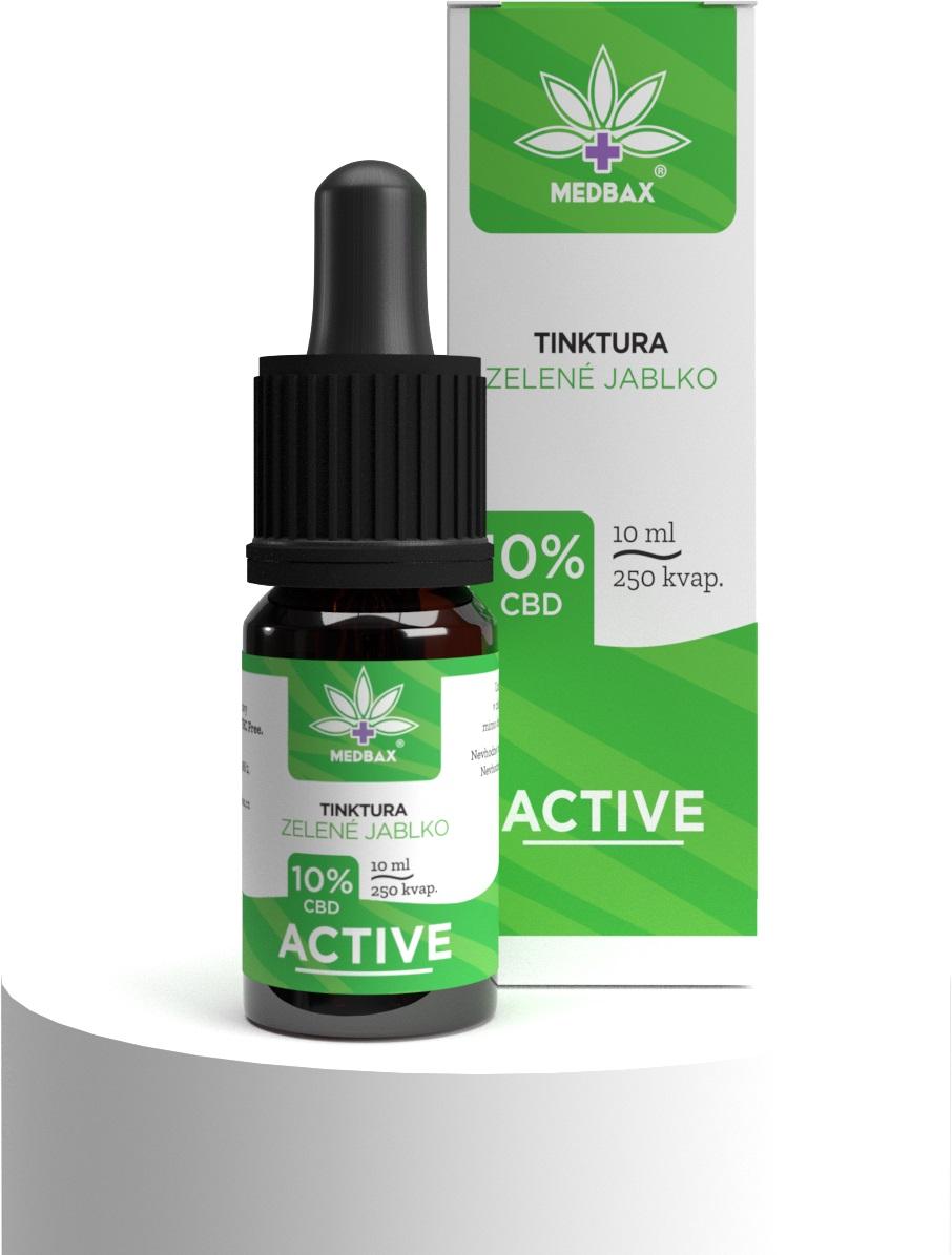 CBD olej/kvapky MedBax, 10 %, príchuť zelené jablko