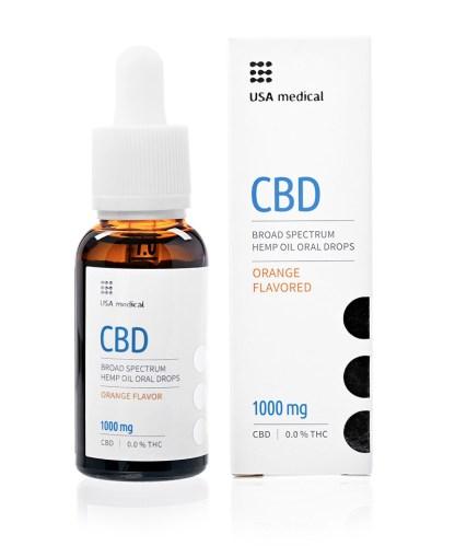 CBD kvapky USA medical, 1 000 mg
