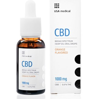 CBD olej/kvapky USA medical, 1 000 mg