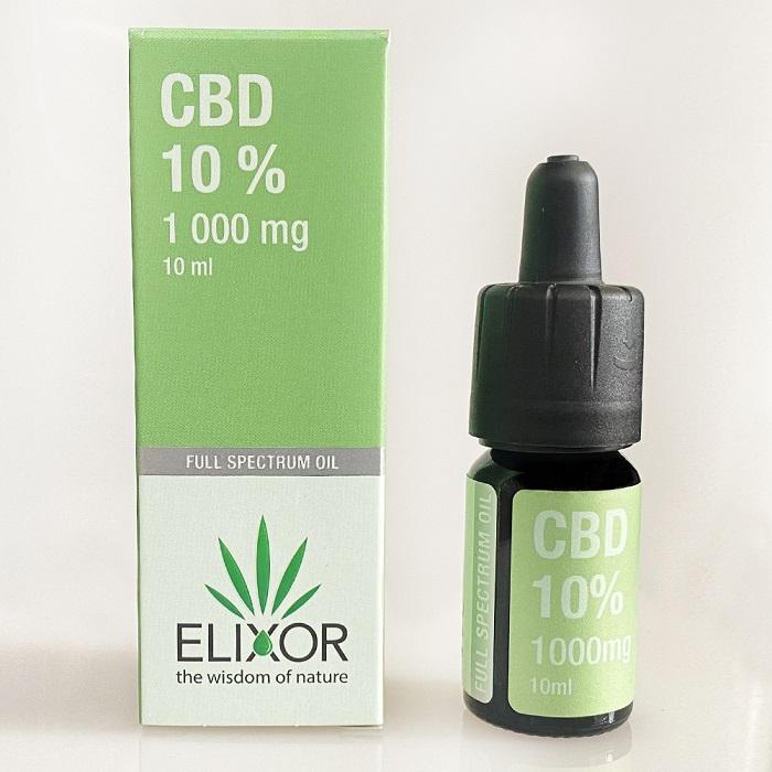 CBD olej/CBD kvapky Elixor, 10 %, 1000mg