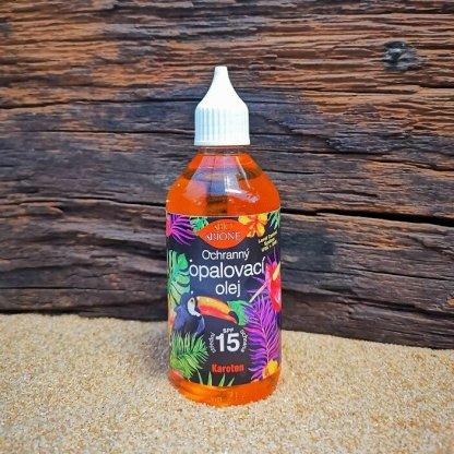 Ochranný opaľovací olej Bione, 15, Karotén, 115ml