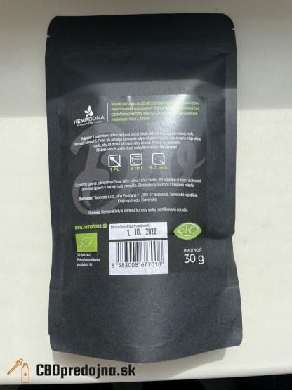 Konopný čaj HempBona, BIO, ručne zberaný, 30g
