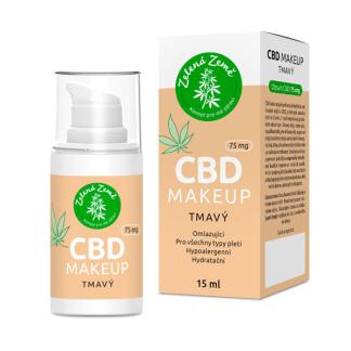 CBD makeup tmavý Zelená Země, 75mg, 15ml