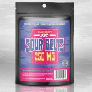 JGO Gummies - Blazeberry Sour Belts 250mg