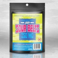 JGO Gummies - Sour Berry Blue Belts 250mg