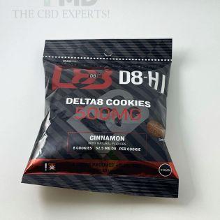 D8 HI Delta 8 THC Edible Cookies 500mg CINNAMON 8 Pack