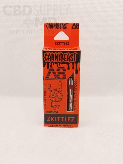 Cannibeast Delta 8 Cartridge 1000MG Zkittlez Indica