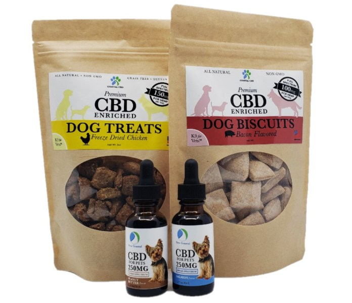 New Coastal CBD pet care gift set small dogs CBD Today