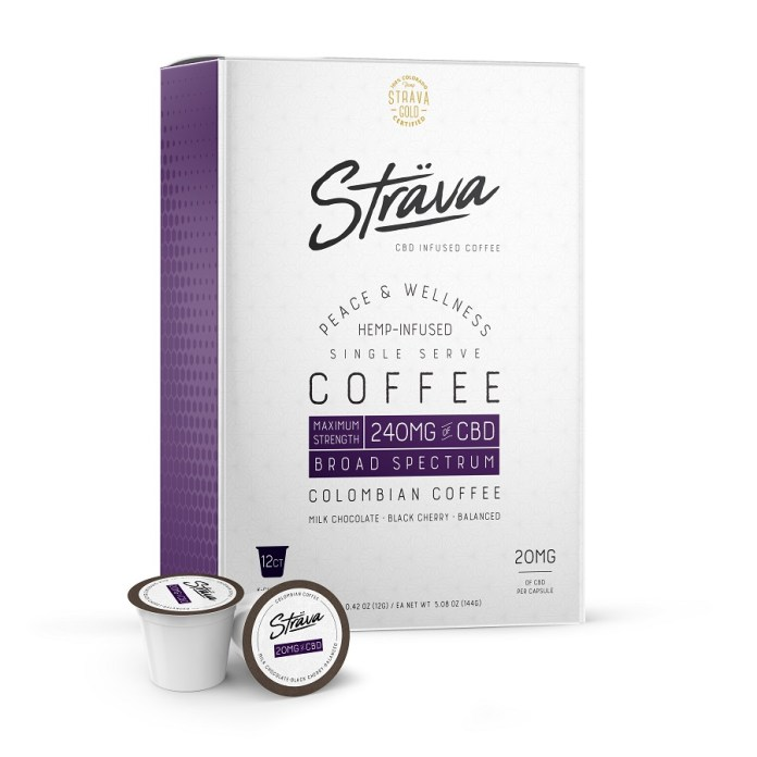 Sträva Craft Coffee K-Cups-12pk-240mg-CBD Products-CBDToday