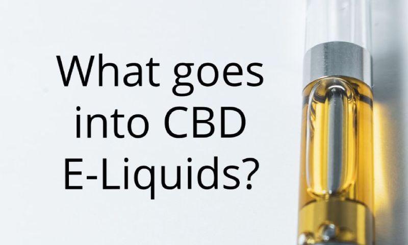 What is in CBD E-Liquids?