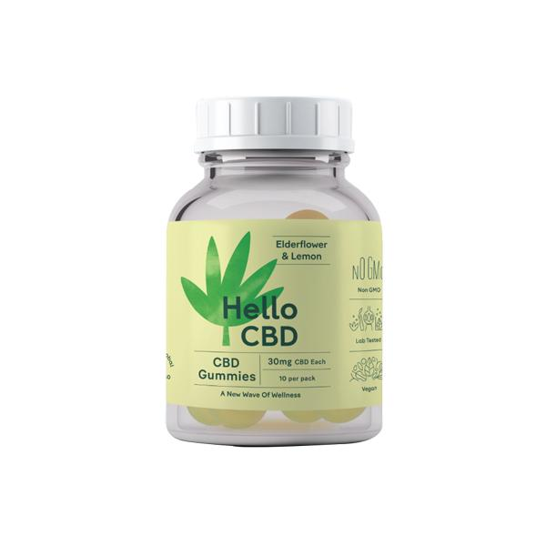 Hello CBD Gummies Elderflower & Lemon 30mg