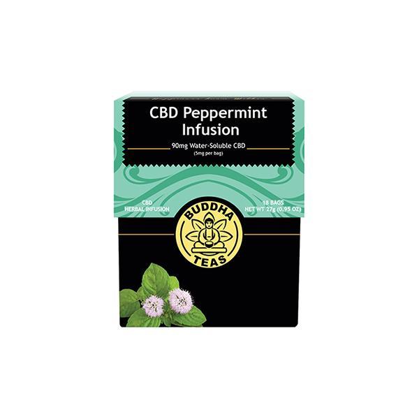 Buddha Teas Peppermint Infusion CBD Tea Bags 5mg