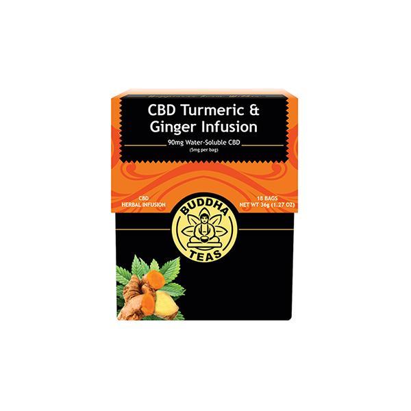 Buddha Teas Turmeric Ginger CBD Tea Bags 5mg