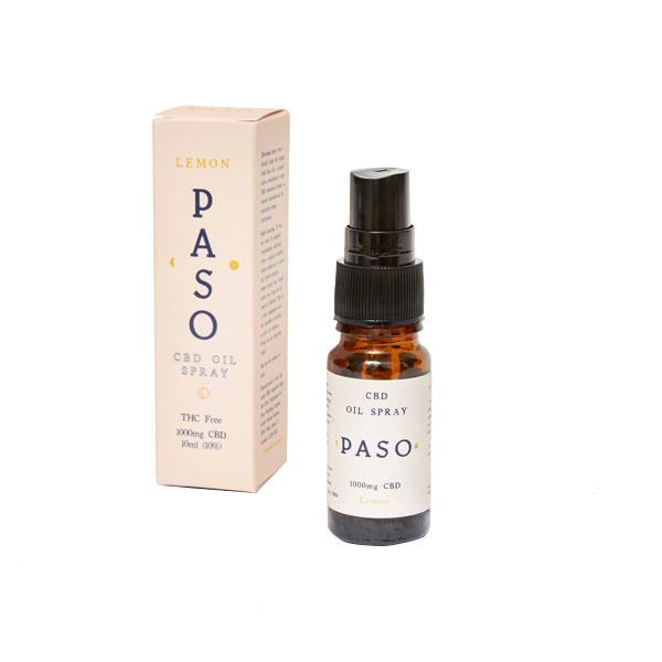 Paso CBD Oral Oil Spray 1000mg (10ml) Lemon