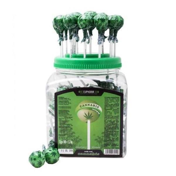 Euphoria Cannabis Lollipops 12g x 100pcs (Approx)