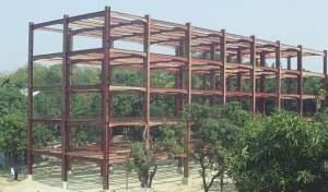 Industrial steel building construction