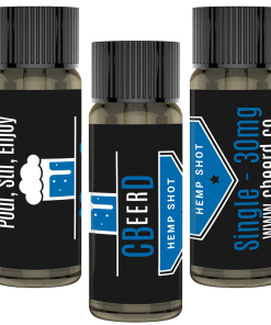 CBeerD 30mg CBD Single Shot which makes any beer wine or cocktail intro a CBD drink