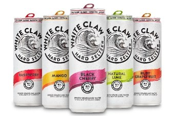 picture of five white claw flavors