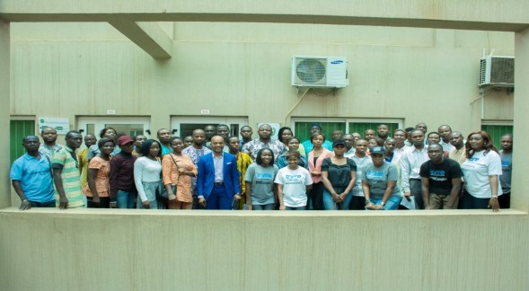 All participants at the Public Presentation of the Web Application.