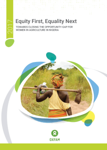 Equity First Equality Next: A CBI-OXFAM Research Report