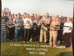 corpus christi beach dawgs may 2008 ribbon cutting chamber of commerce